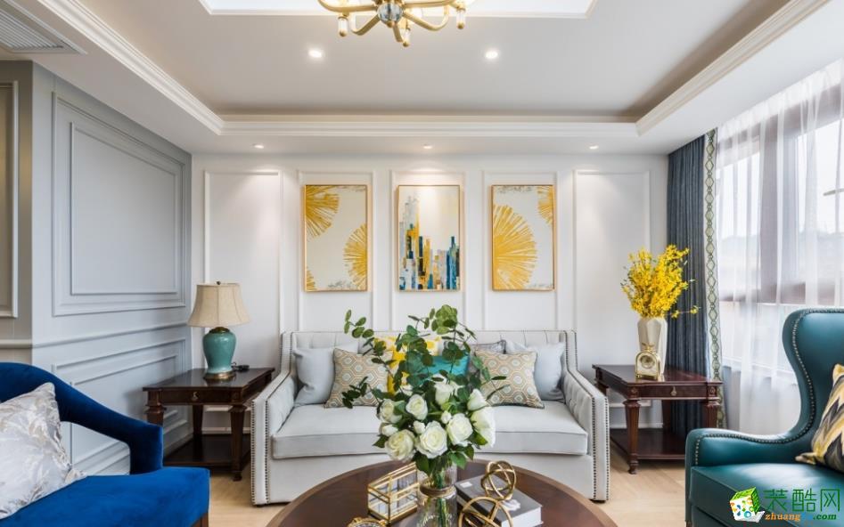 客厅  昆明160平三室两厅法式风格装修效果图