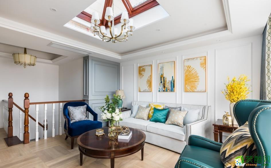 昆明160平三室两厅法式风格装修效果图_法式风格-三室两厅两卫