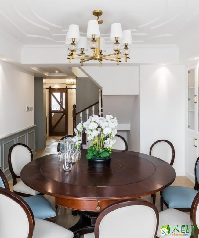 餐厅  昆明160平三室两厅法式风格装修效果图