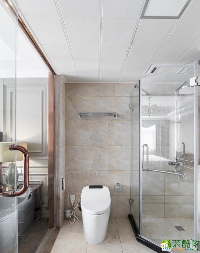 卫浴  昆明160平三室两厅法式风格装修效果图