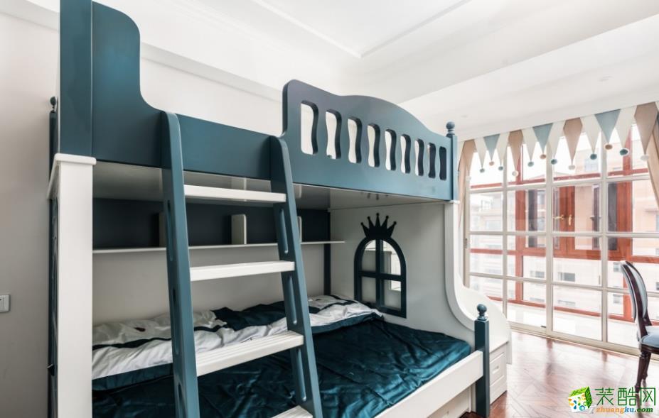 儿童房  昆明160平三室两厅法式风格装修效果图