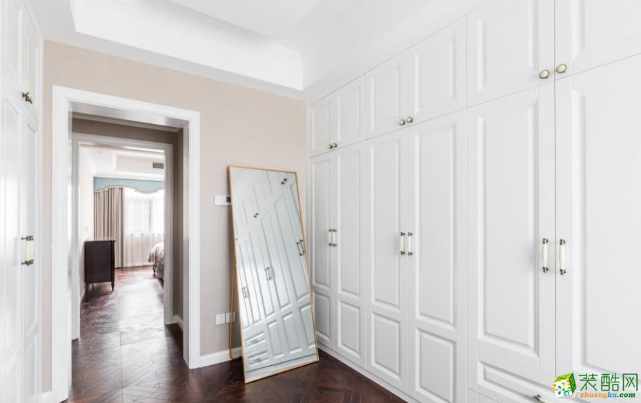 衣帽间  昆明160平三室两厅法式风格装修效果图