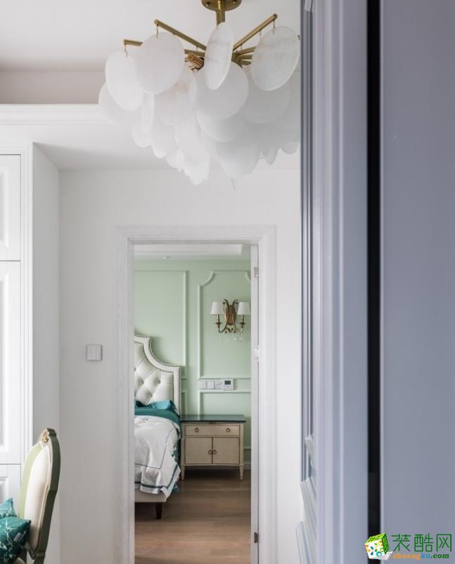 过道吊顶  昆明160平三室两厅法式风格装修效果图