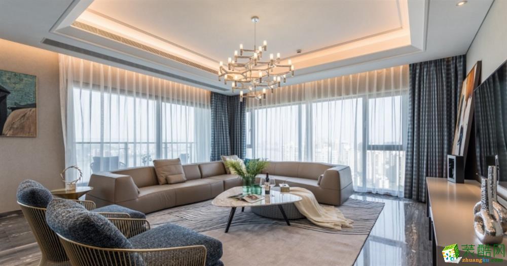 昆明255平4室2廳現代風格裝修案例圖