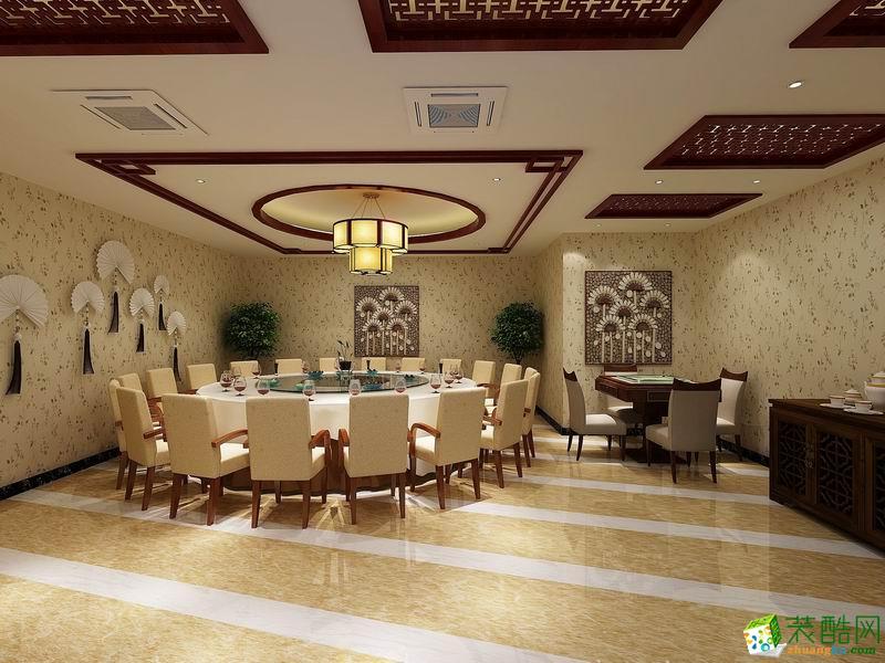 武汉钟家村海鲜酒楼新中式风格装修作品