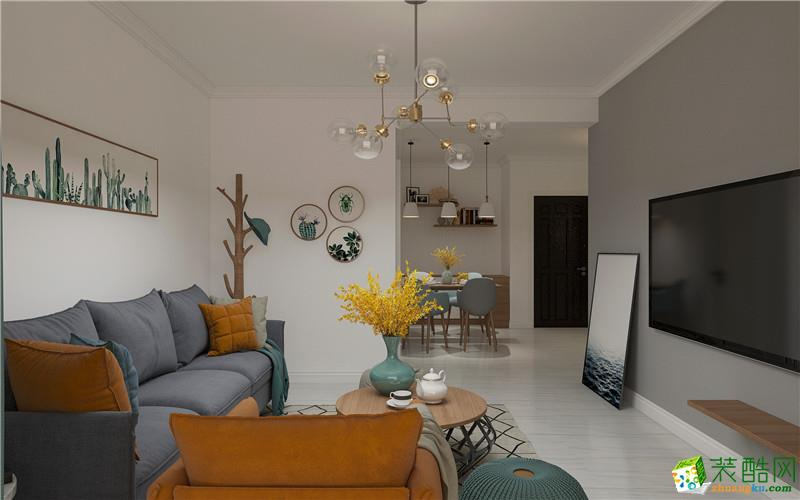 易水龙脉89平两室两厅两卫现代简约风格装修效果图