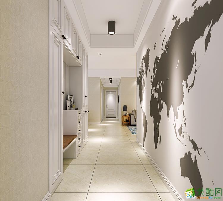 郑州100平三室一厅一卫现代简约风格装修效果图