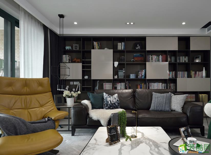 宜宾120平米现代三居装修效果图
