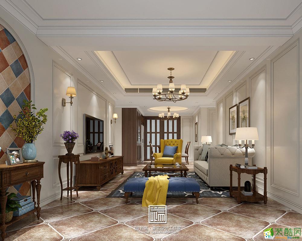 国贸天琴湾四居室美式风格装修设计