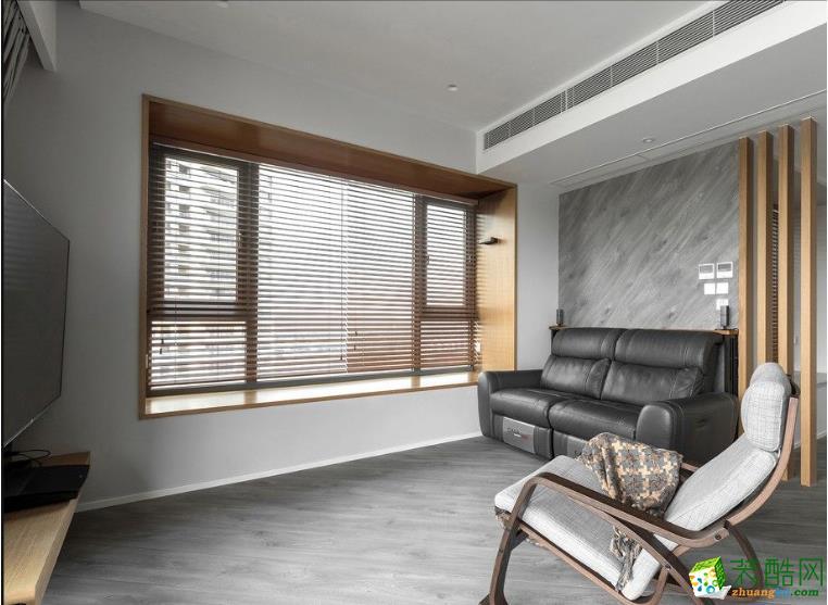 仕邦装饰-102平二居室混搭装修效果图