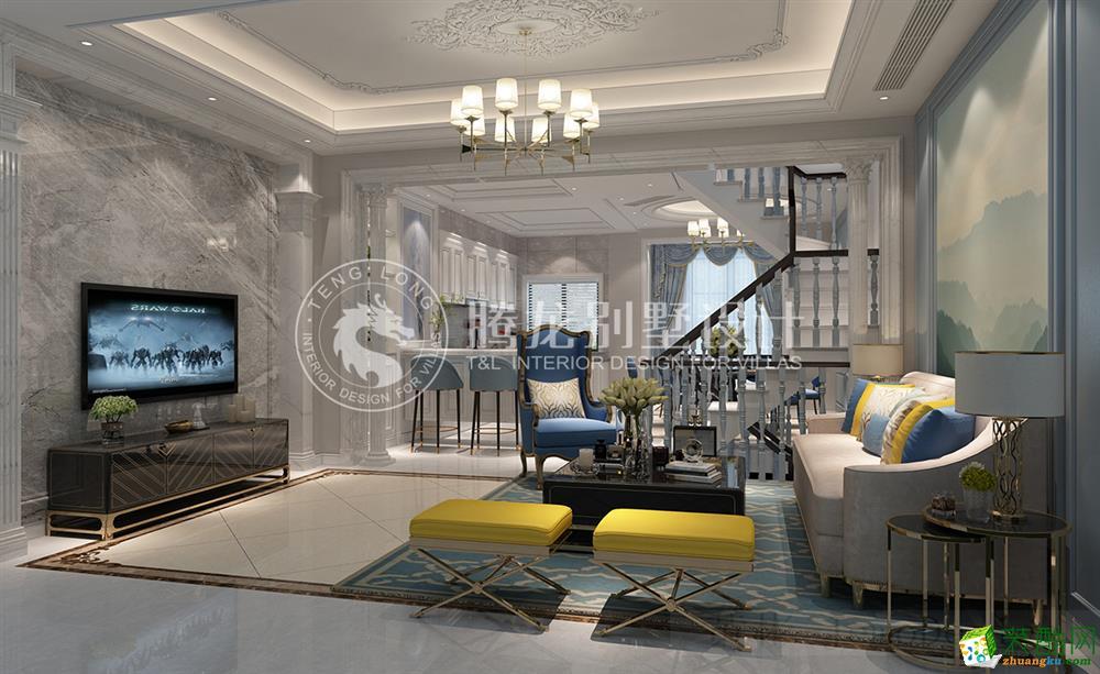 安礼香苑210平别墅新古典风格