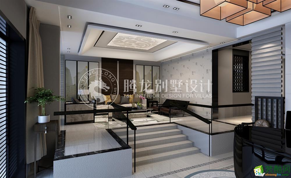 东城江南380平别墅新中式设计