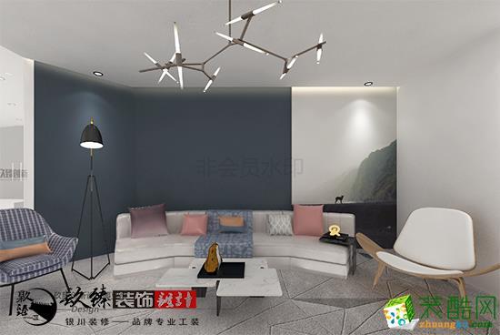 银川装修�N臻装饰,现代科技感的办公室装修设计