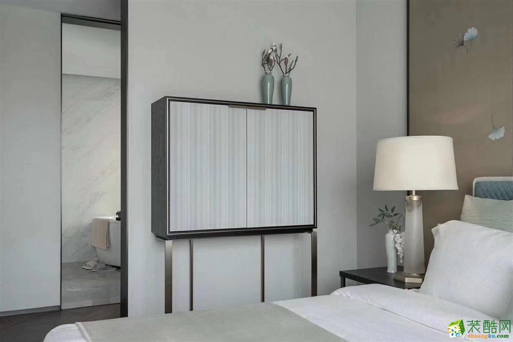 正弘中央公园三室一厅一卫110平简约风格装修效果图