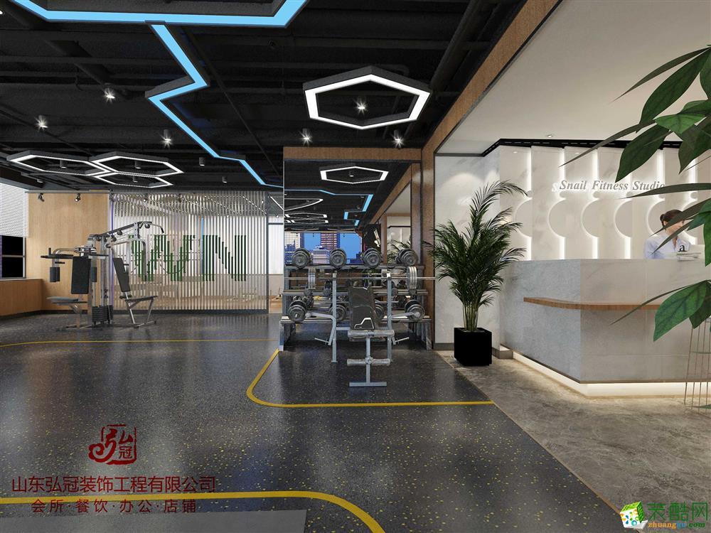 滨州健身房健身会所装修装饰设计公司山东弘冠