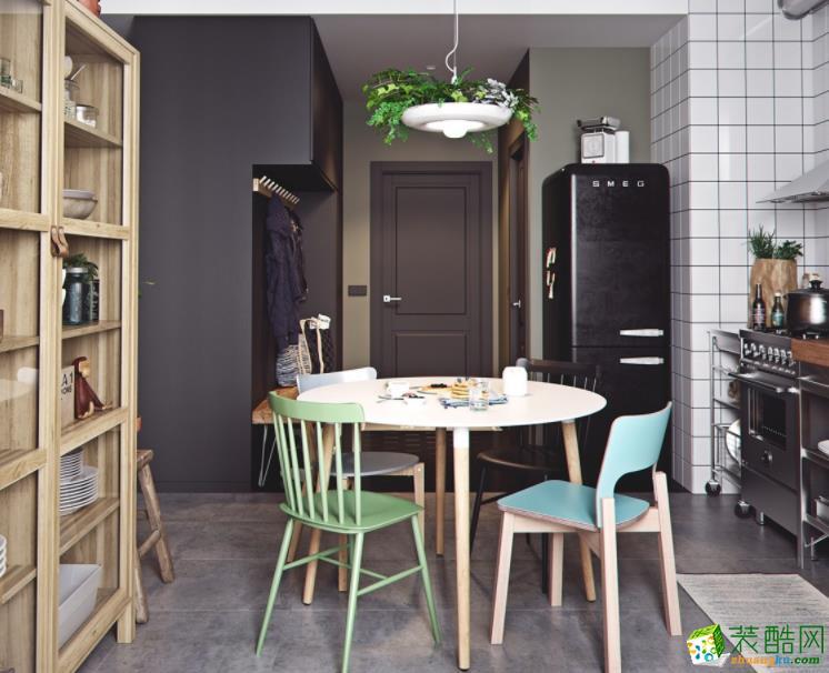 济南诚洲装饰-85平米简约两居室装修案例