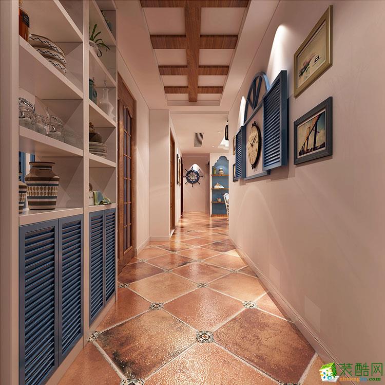 郑州三室两厅一卫装修―110平地中海风格装修效果图
