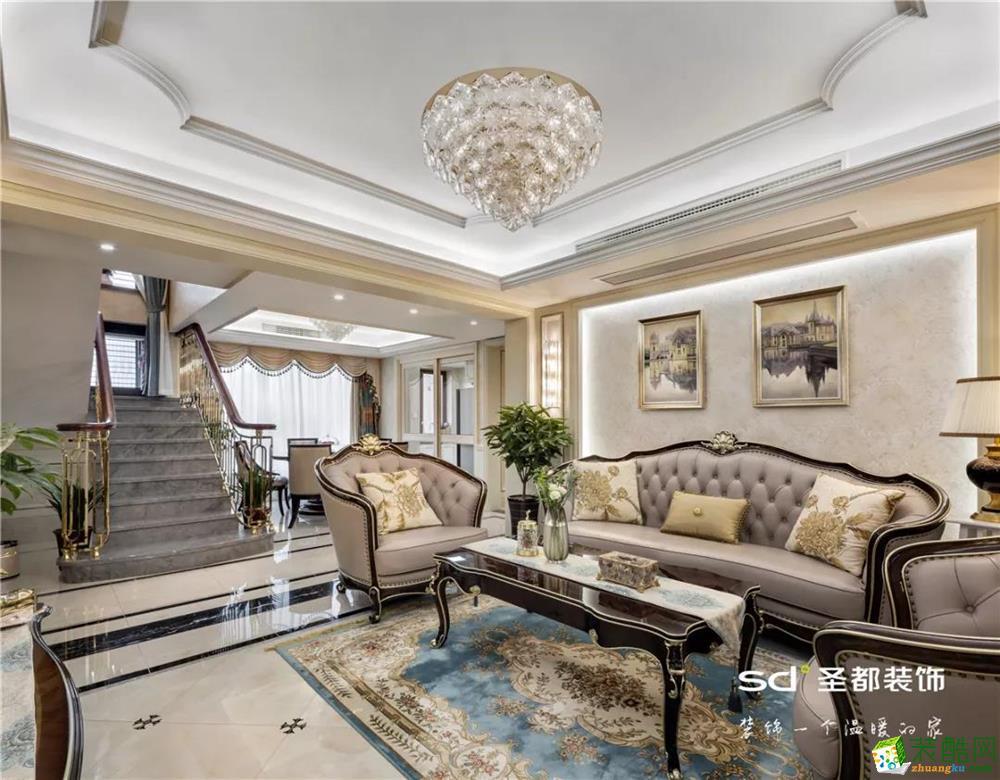 金地天逸200方四室两厅两卫欧式风格装修效果图