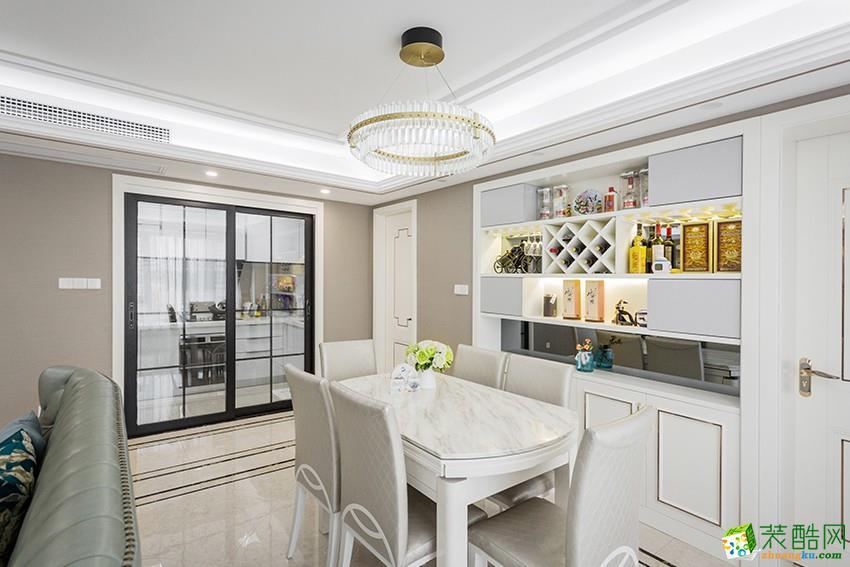 郑州120平三室两厅一卫现代混搭风格装修效果图