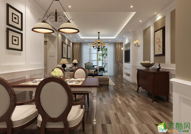常州汇福装饰-120平米美式三居室装修案例