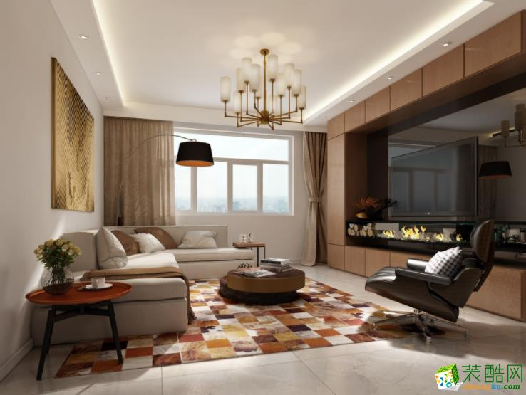 大理88�O两居室高性价比简约风格装修案例图