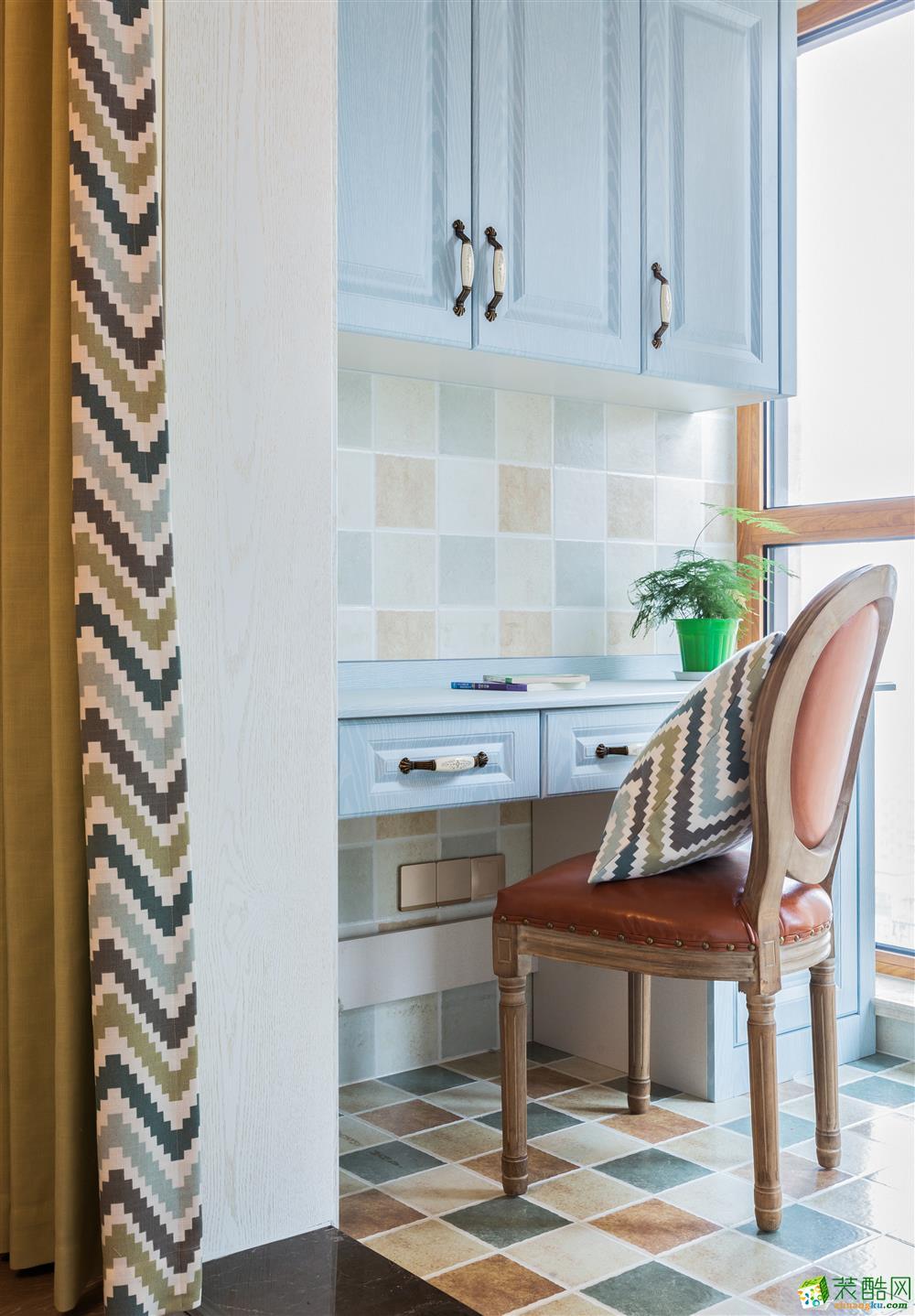 常州汇福装饰-桦仟树125平米美式三居室装修案例