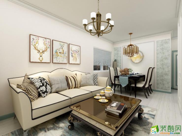 天津91�O三居室典雅欧式风格装修案例图
