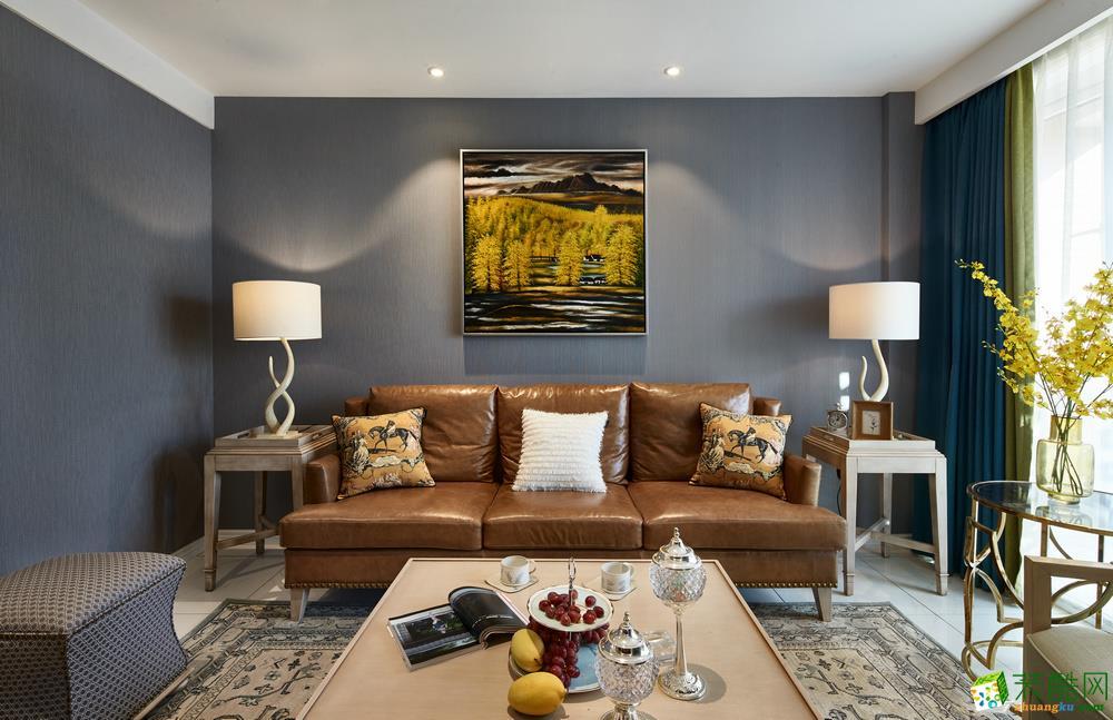 郑州100平三室一厅一卫装修美式风格装修效果图