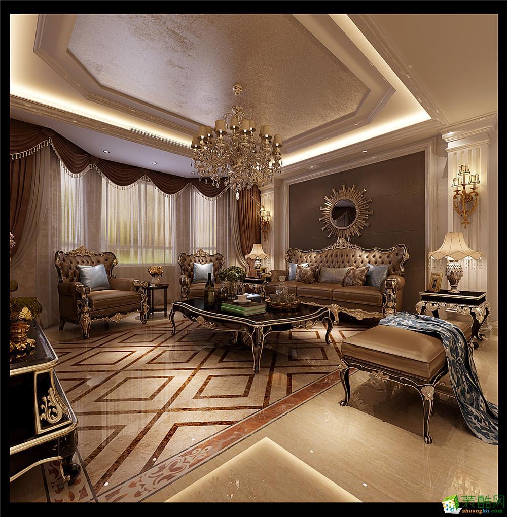 葫芦岛新世界花园别墅320平欧式风格装修案例装修效果图