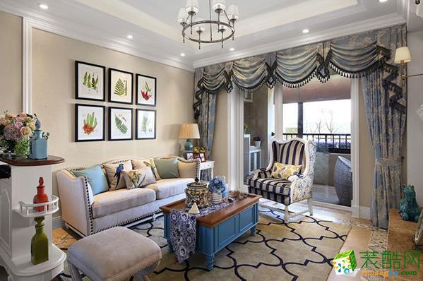 常州喜客喜装饰-120平米美式三居室装修案例