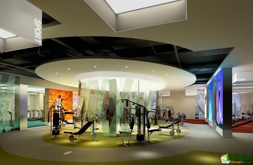 郑州健身房装修―600平现代风格装修效果图