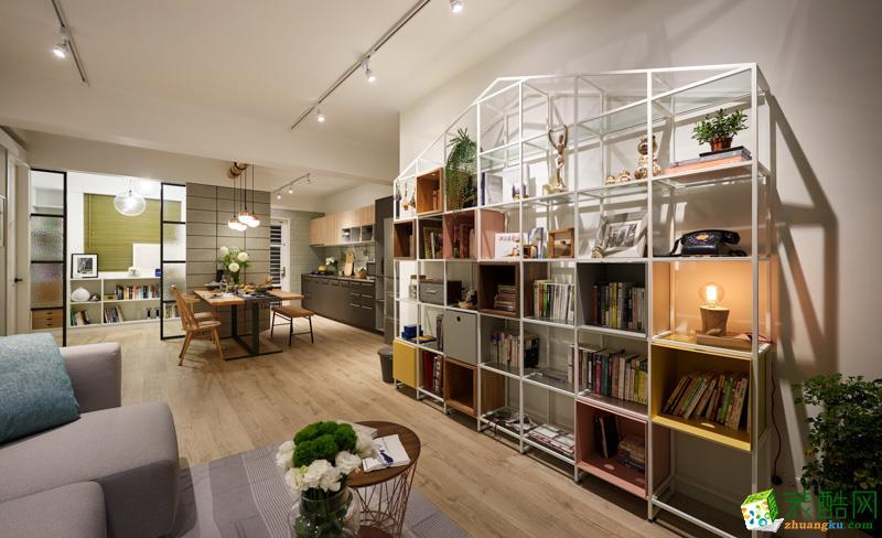 小小家装-中海国际社区88平北欧风格装修效果图_北欧风格-两室两厅一卫