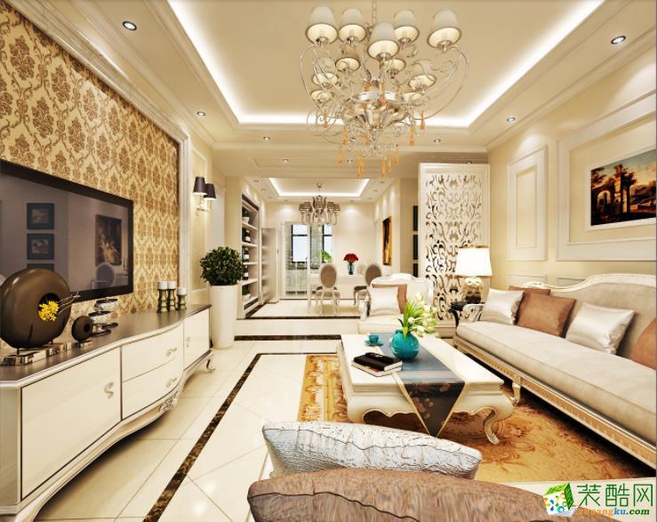 天津三居室装修-110�O现代欧式风格装修案例图