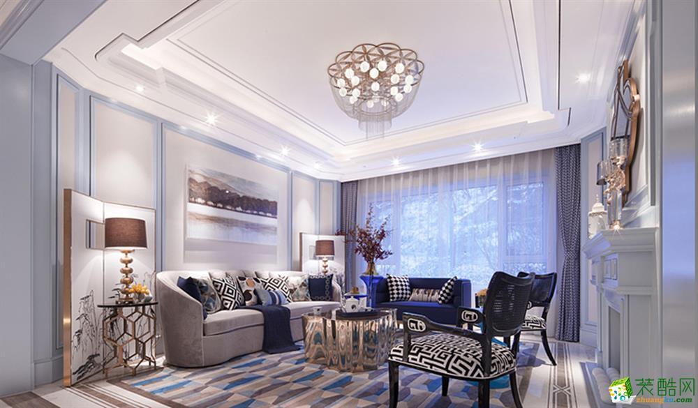 保利心语108�O三室一厅一卫欧式风格品质装修作品