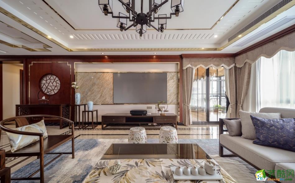 昆明260平中式风格装修案例图-天森装饰_中式风格-四室两厅两卫