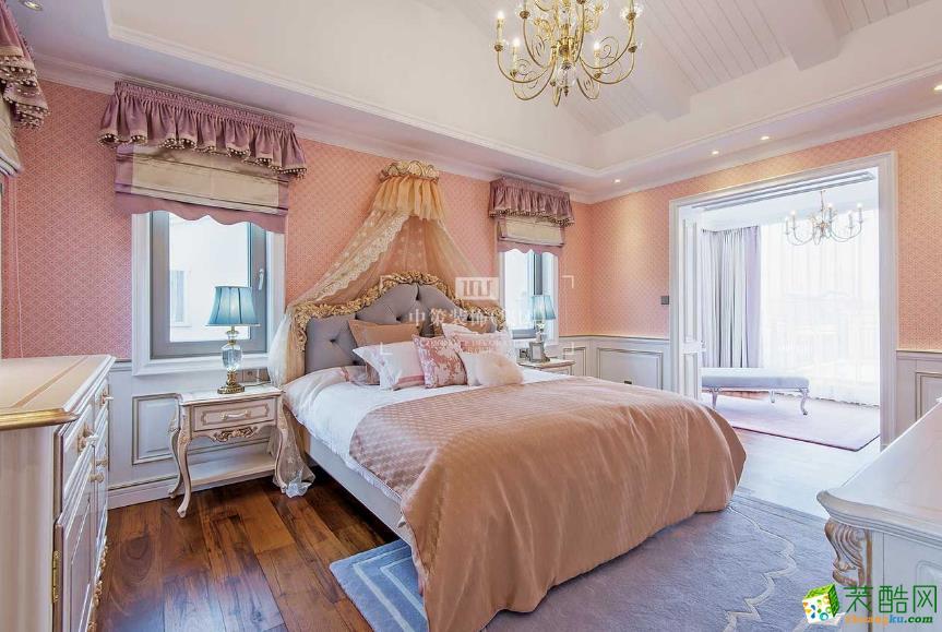 卧室  昆明公园1903别墅法式风格装修案例图-中策装饰