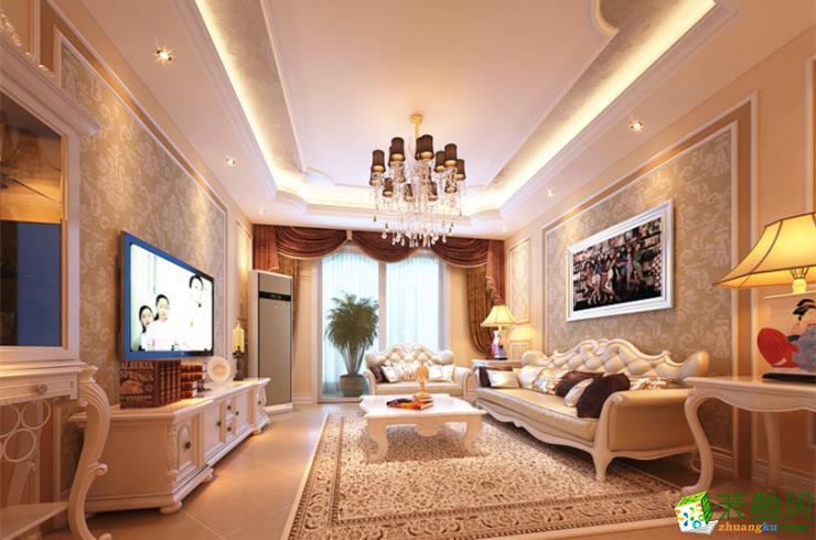 屋一装饰-永川90平米三居室法式风格装修效果图