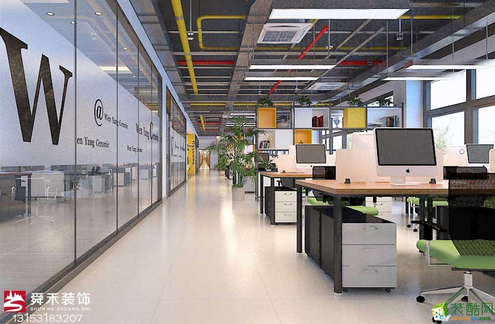 济南办公室创意写字楼办公楼工装装饰装修设计公司_山东舜禾装饰