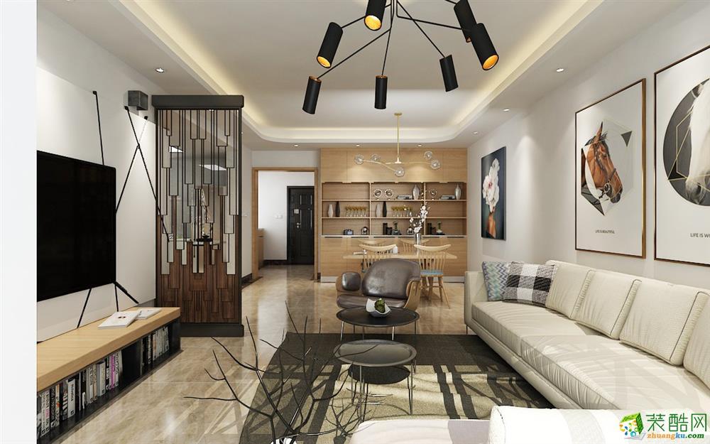 现代-三居室装修案例效果图