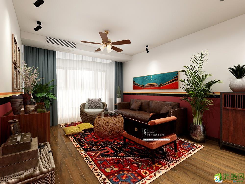 重庆旧房翻新-68平米东南亚风格老房翻新案例-蜕迹装饰
