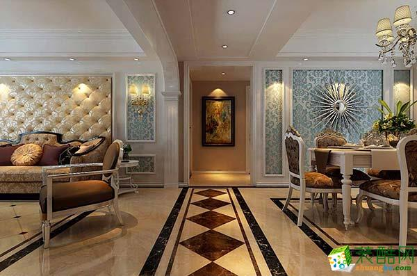 恒大名都120平三居室欧式风格装修效果图