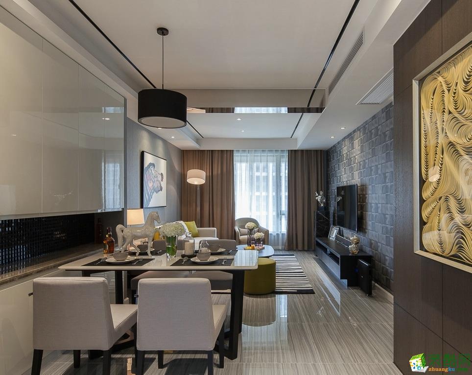 宜宾两居室装修-70平米现代简约风格装修案例-大饰纪装饰