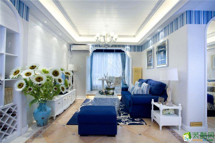 宜宾三居室装修-143平米地中海风格装修案例-大饰纪装饰