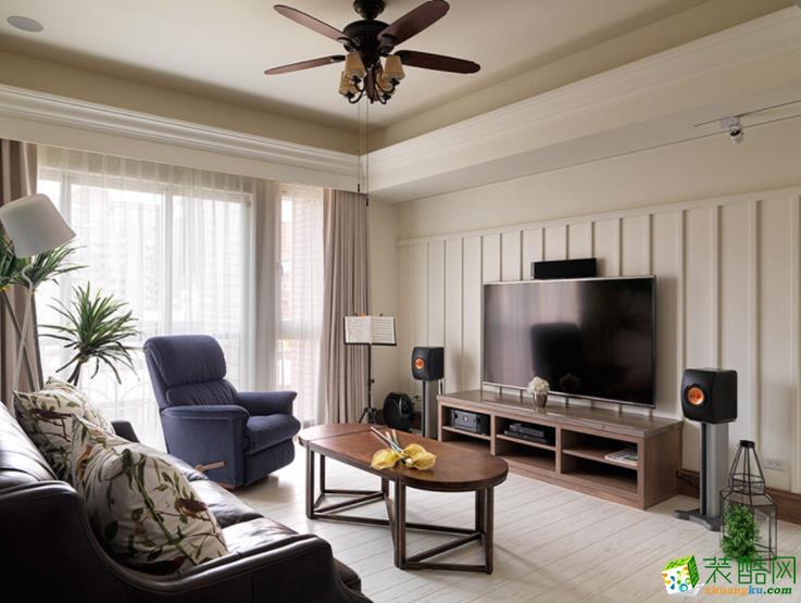镇川装饰-85平米美式风格两居室装修案例图