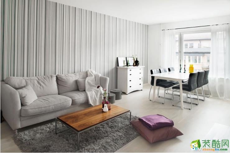 镇川装饰-三居室90平米北欧风格装修效果图