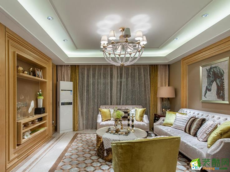 家一装饰-小户型85平米法式风格装修效果图