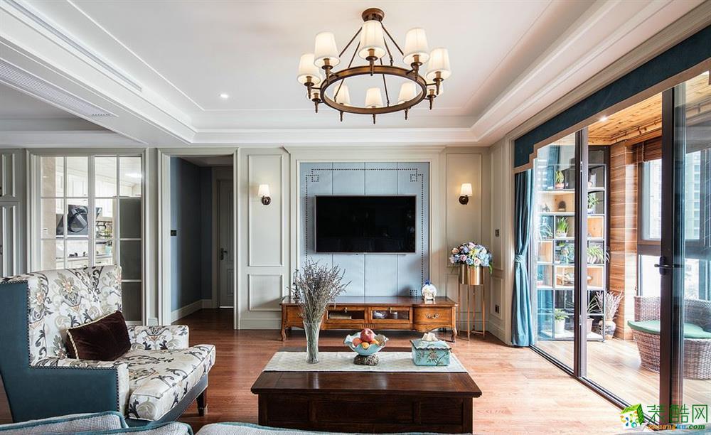 昆明俊发观云海200㎡三居室美式风格装修