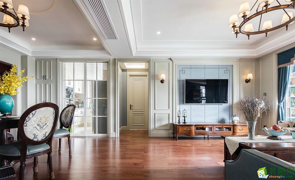 客厅  昆明俊发观云海200㎡三居室美式风格装修