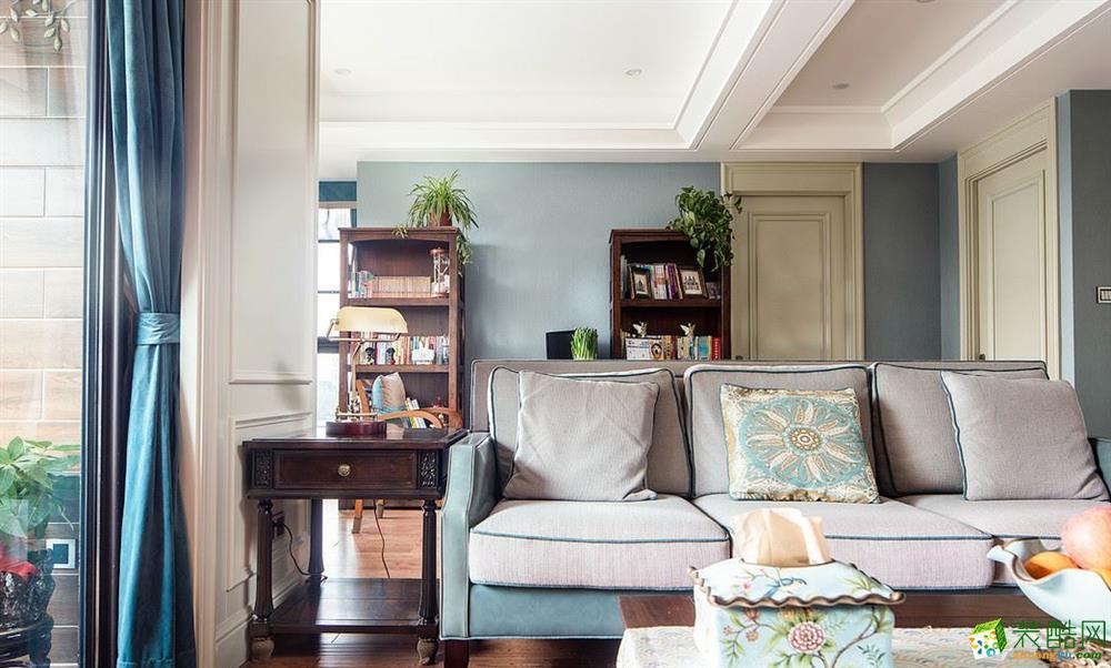 客厅  昆明俊发观云海200�O三居室美式风格装修