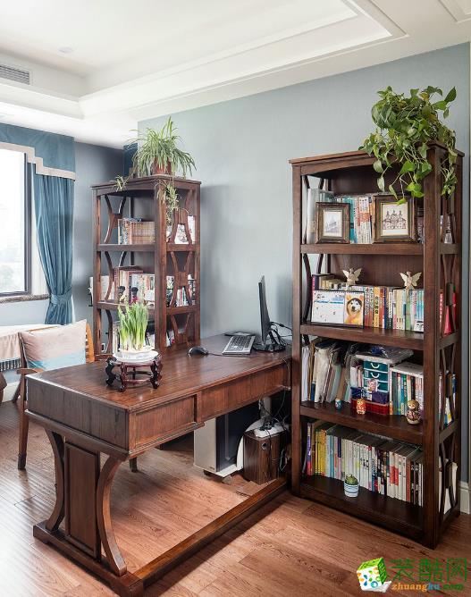 书房  昆明俊发观云海200㎡三居室美式风格装修